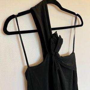 BCBG little black dress, one side shoulder
